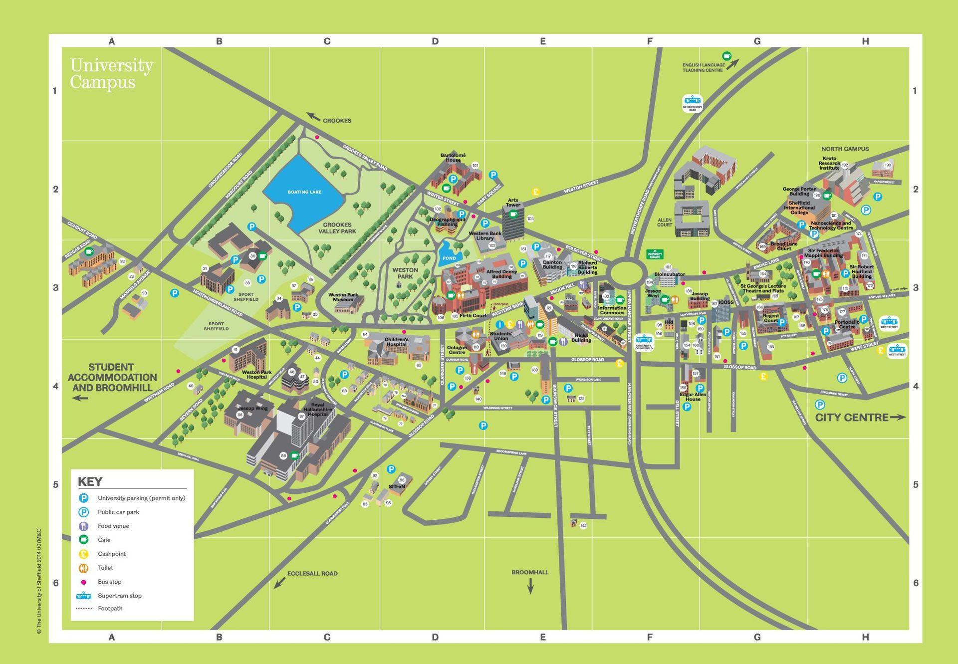 Map Of The University Of Arizona.Usic Maps University Of Sheffield Islamic Circle
